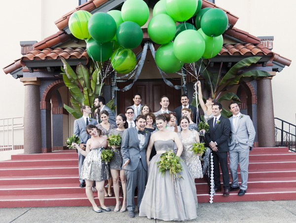 Bella Fiori, Sonoma California Wedding with green bridal party bouquets