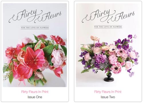 Flirty Fleurs Floral Designer Magazine. Floristry Magazine. Flower Magazine.
