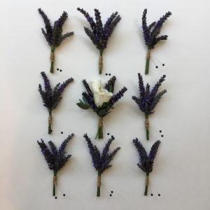 Bella Fiori, Mt Vernon, Washington - boutonnieres of lavender